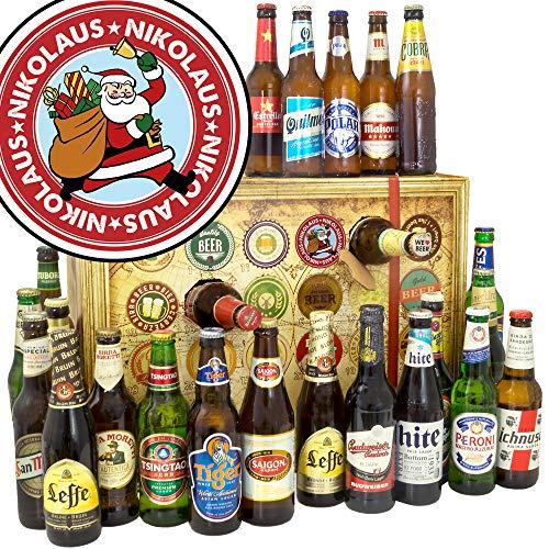 Nikolaus Bier Adventskalender 2019 / Bier Weihnachtskalender/Biere der WELT