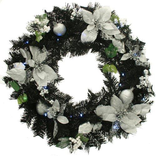 WeRChristmas - Corona de Navidad con iluminación (20 Bombillas LED, 60 cm)