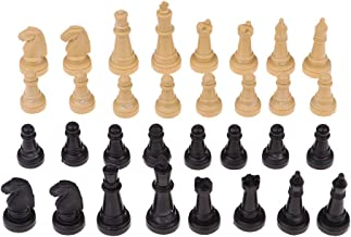 32 Pieces Plastic International Chess Set Classic Standard Pieces for Chess Lover Gift/ Entertainment Toys