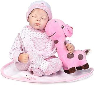 Realistyczna lalka Reborn Baby Doll That Looks Real, Sleepy Żyrafa Baby, Dziewczęce Lalki Ręcznie wykonane z silikonowego ...
