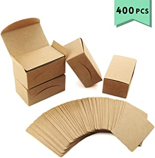 Weoxpr 400pcs Blank Kraft Note Paper Business Cards Vocabulary Word Card Message Card DIY Gift Card Blank Paper Tags