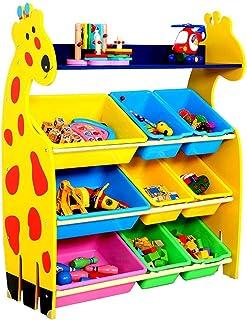 Support à jouets pour enfants Boîtes de rangement for enfant de rack de stockage avec 9 paniers en plastique for chambre ...