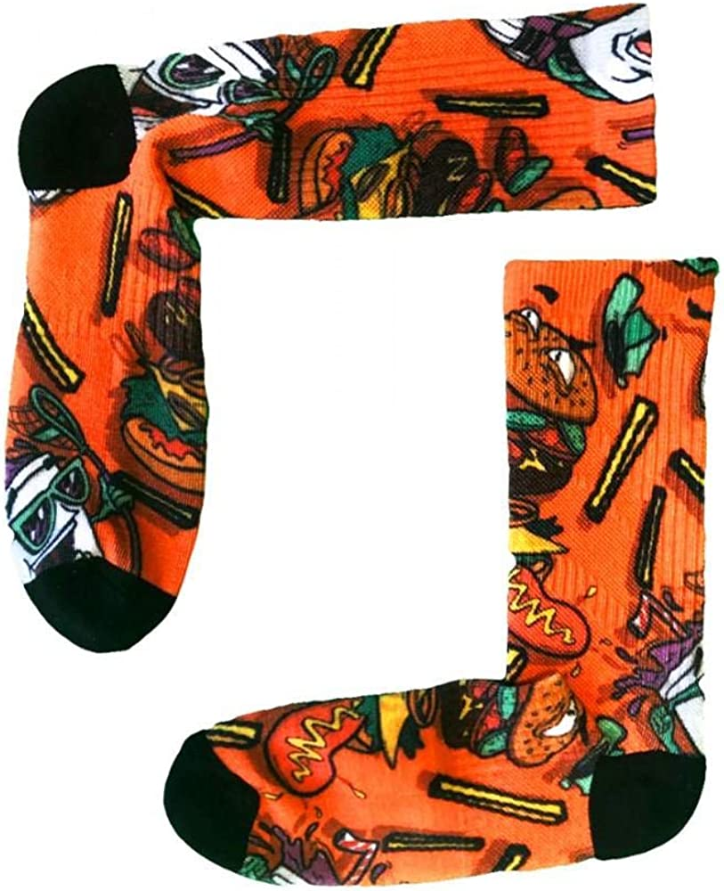 Flow Society Boys Socks, Supersize Boys Crew Socks, Sized for Ages 6-12 - Fun Socks for Boys - Silly Socks for Kids - Wacky Socks - Boy Socks