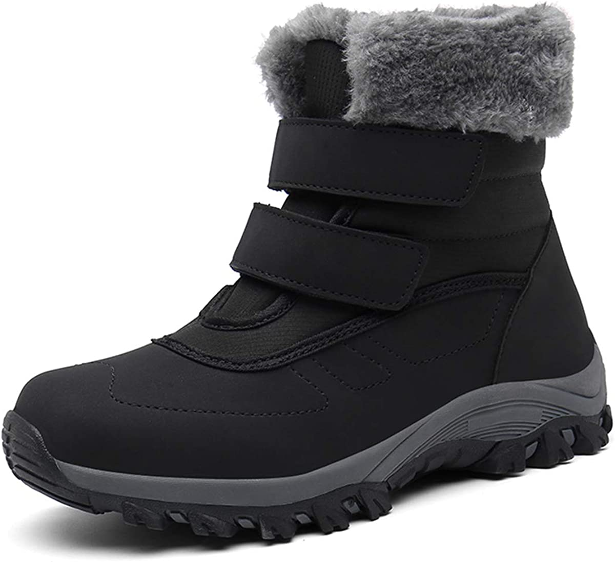 Drecage Women's Snow Bootswith Warm Fur Lining Winter Waterproof Shoes Anti-Slip Outdoor Ankle Boots