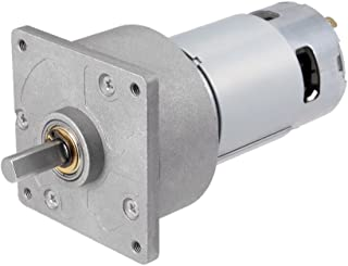 uxcell 24V DC 150 RPM Gear Motor High Torque Electric Reduction Gearbox Centric Output Shaft