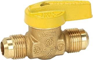 Homewerks VGV-1LH-T2B Premium Gas Ball Valve, Flare x Flare, Brass, 3/8-Inch
