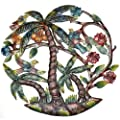 """Global Crafts 24"""" Recycled Handmade Haitian Metal Wall Art, Tropical Theme from Global Crafts"""