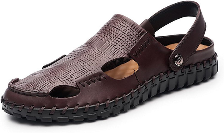 Herren Sommer Sandalen,Weichen Sohle Strand Schuhe Baotou Rutschhemmende Sandalen