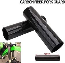 Motorcycle Fork Carbon Fiber Wrap Boots Gator Guard Protector Front Shock Covers Gaiters For KTM Honda Yamaha Kawasaki Suzuki Dirt Bike - 6.3 Inch