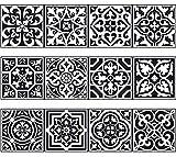 NossaRua Franja de Vinilo Decorativo Autoadhesivo removible para Pared de fácil aplicación para baño, Cocina y decoración colección Fado. Set de 15 Unidades. 3 Metros lineales