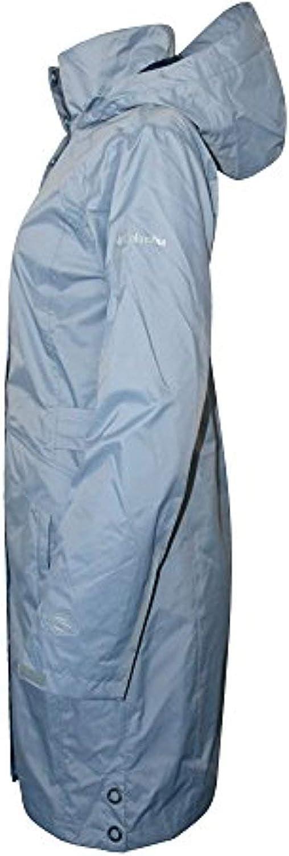 Columbia Women's Timber Pointe Trench Rain Long Hooded Waterproof Jacket 2017 (XS, GREYSTONE)
