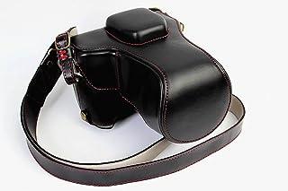 Fujifilm Fuji 富士 PEN X-T10 X-T20 X-T30 X T10 T20 T30 カメラケース カメラカバー カメラバッグ カメラホルダー、【KOOWL】手作りのレザーカメラフルケース、付属品:ショルダーストラップ+レンズ収納ケース、スタイリッシュ、コンパクト、防水、防振、対応レンズモデル:XF18-55mmとXC16-50mmII(ブラック)