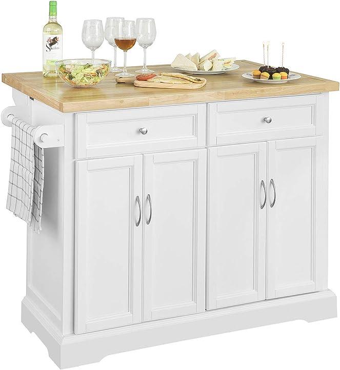 Carrello cucina mobile dispensa cucina mobile credenza con ruote piano è allungabile (fkw71-wn) sobuy B07MDVQ6FF