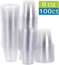 clear plastic juice cups