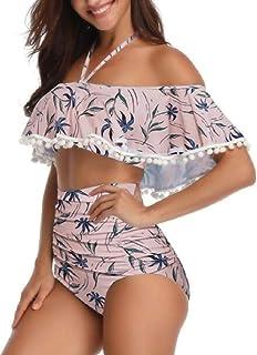 再生可能少年見込みSodossny-JP 女性のツーピースの水着は、オフ肩の高いビキニを脱ぐ