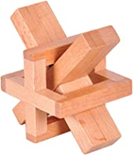 KINGOU Wooden Siege Lock the Perplexing X in a Box Logic Puzzle Burr Puzzles Brain Teaser Intellectual Toy