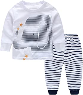 Zerototens Newborn Outfit Set,0-3 Years Old Toddler Kids Baby Boys Girls Long Sleeve Stripe T-Shirt Tops+Cartoon Eyes Jumpsuit Overalls Pants Autumn Winter Children Clothing Set