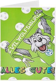 VfL Wolfsburg Glückwunschkarte Wölfi Alles Gute