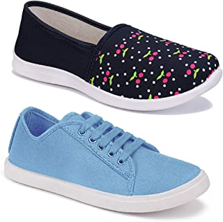 Shoefly Women Multicolour Latest Collection Sneakers Shoes- Pack of 2 (Combo-(2)-1451-5002)