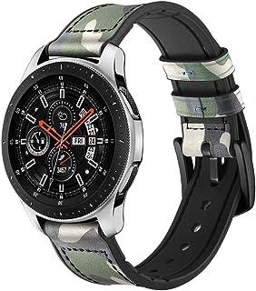 Compatible Samsung Galaxy Watch 42mm/Samsung Gear Sport/Samsung Gear S2 Smart Watch Genuine Leather Watch Band Straps 20mm Wristband