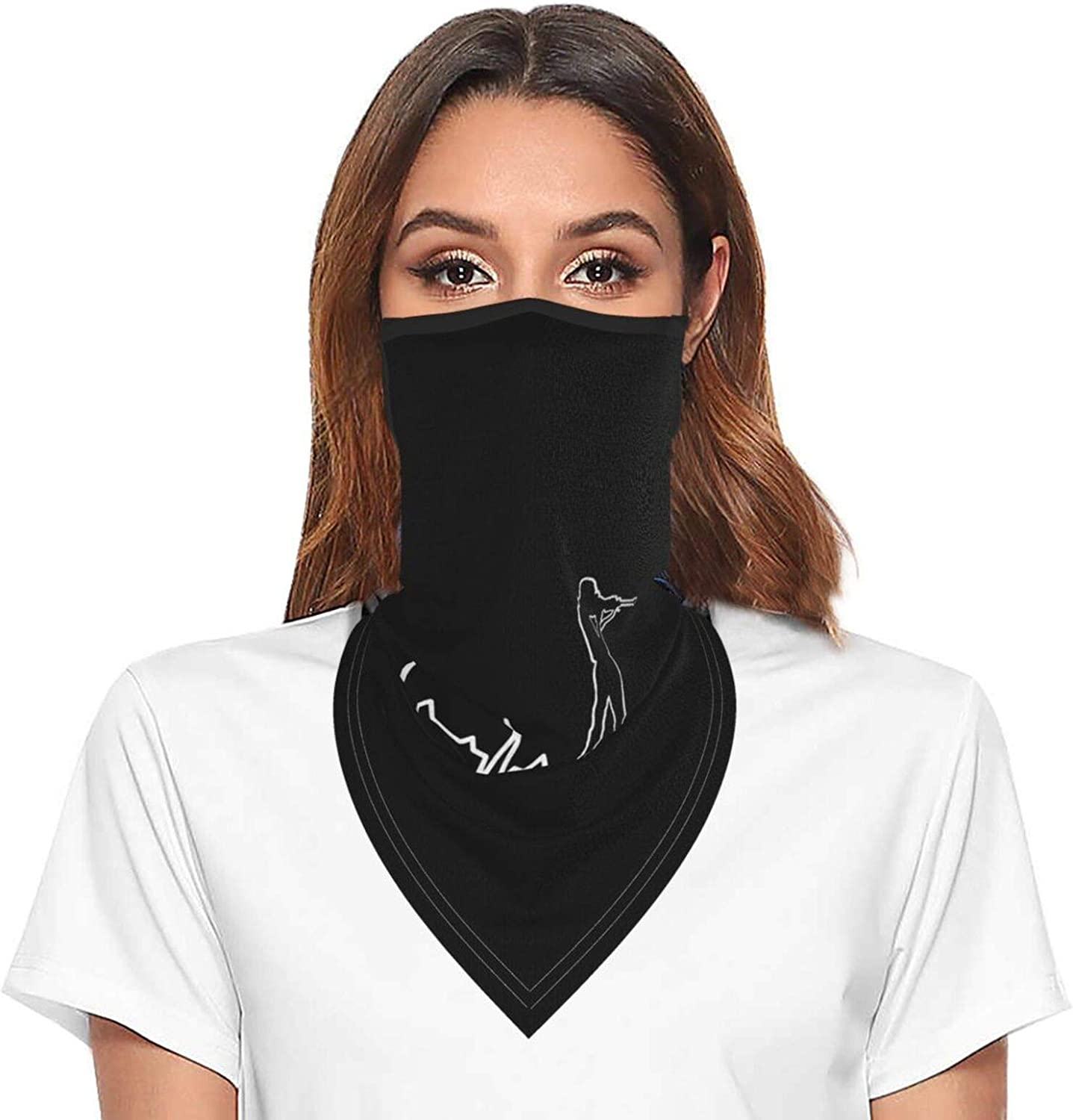 Shooting Heartbeat Neck Gaiter Face Mask With Ear Loops Outdoor Breathable Scarf For Men Women