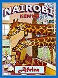 MAGNET Nairobi Kenya Africa African Giraffe Manor Art Travel Magnet Advertisement