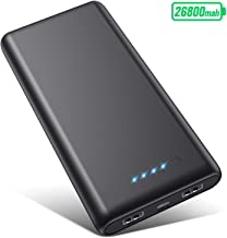 Portable Charger Power Bank 26800mah, Ultra-High Capacity Safer External Cell Phone Battery Pack Compact with High-Performance Cells & 2 USB Output, Smart Charge for Smartphone, Android, Tablet & etc