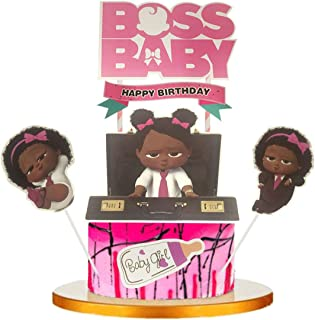 6 Pcs BOSS Baby Cupcake Toppers , Kids Birthday Party, Baby Shower Cake Decorations (girl)
