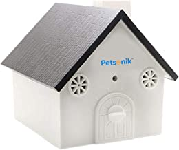 Petsonik Ultrasonic Anti Barking Device in Birdhouse Shape Instantly Regain Your Peace of Mind, Includes Free E-Book on Tips | Outdoor Bark Box - No Harm to Dog | Upgraded Bark House