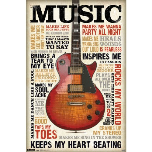 Trends International Music Inspires Me 22.375' x 34' Wall Poster