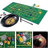 Cakunmik Set di Giochi di Disco da 25 Cm, Disco da Gioco del Disco della Roulette Set di Roulette del Giradischi in Legno Set di Roulette del Giradischi Divertimento Giochi
