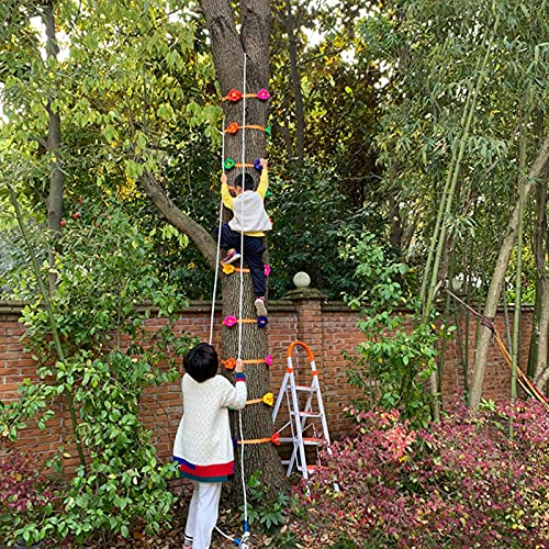 6 Ninja Tree Climbing Holds For Kids Climber, Adult Climbing Rocks With 2 Ratchet Straps For Outdoor Ninja Warrior Obstacle Course Training