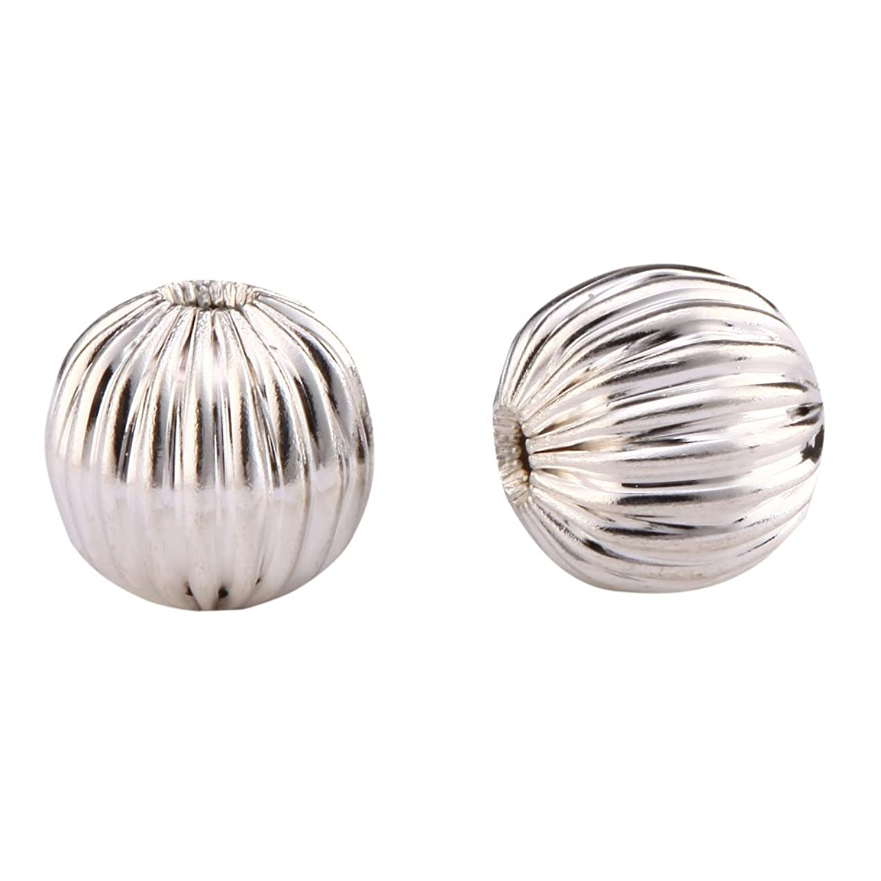 200pcs Beautiful Mellon Spacer Beads 6mm Metal Beads Sterling Silver Plated Silver Beads   Top Quality CF109-6