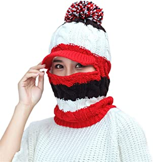Remeehi Duck Tongue Cap Wool Cap Hat Wind-proof Knitted Cap For Ladies In Autumn And Winter Red
