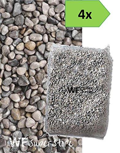 WUEFFE Ghiaino Tondo di Fiume 4/16mm - 4 Sacchi da 25 kg - Sassi Ghiaia graniglia