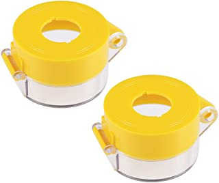 uxcell 2pcs Yellow Plastic Switch Cover Protector for 22mm Diameter Push Button Switch