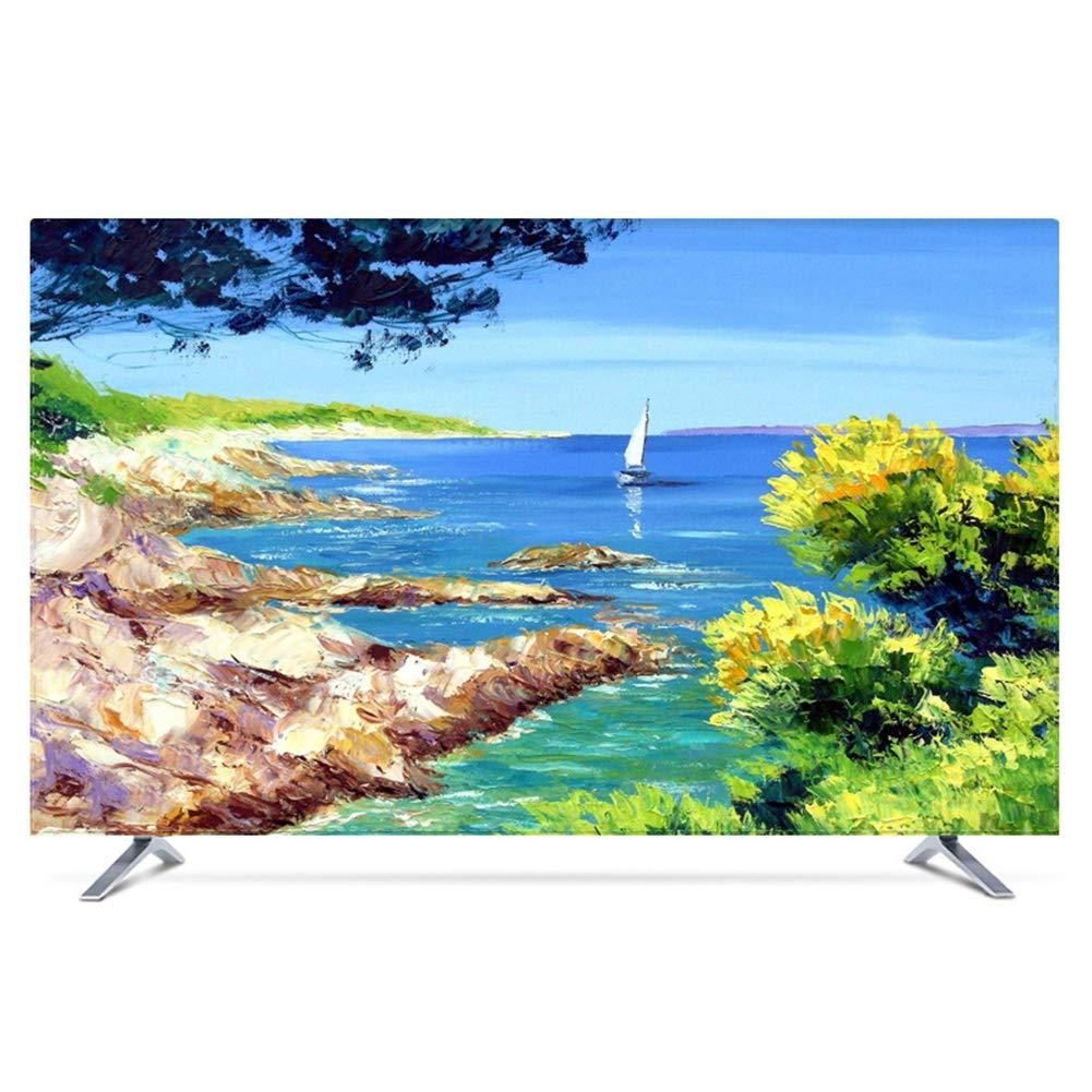 Ting Ting Cubiertas Protectoras Cubierta De Polvo De TV LCD TV Decoración De La Computadora Cubierta Tela Antideslizante Tingting-Funda para Monitor (Color : Riverside, Size : 55inch): Amazon.es: Hogar