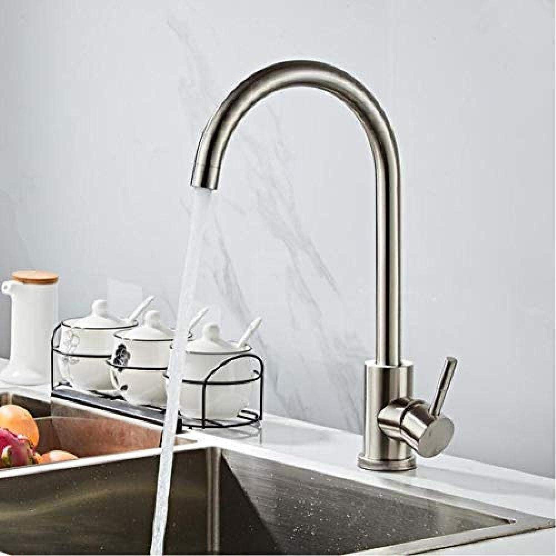 Armatur Klassische Küchenarmatur Edelstahl Gebürstet Prozess Swivel Becken Wasserhahn Edelstahl Wasserhahn