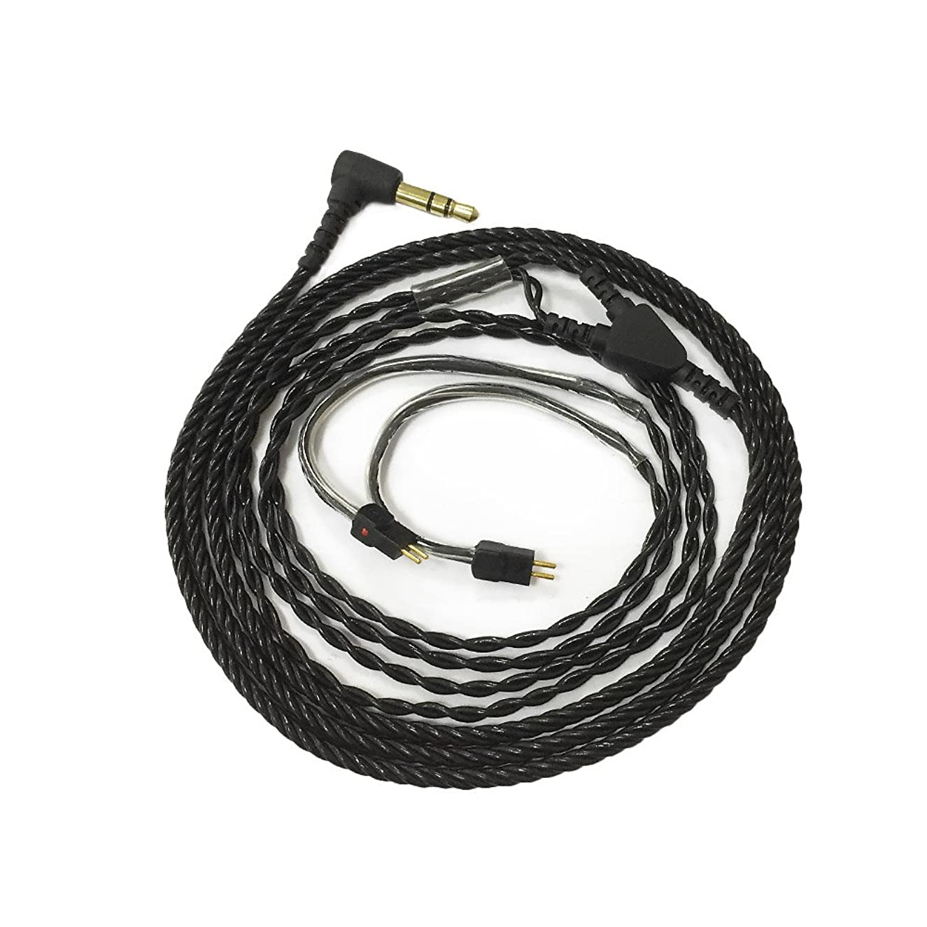Upgraded Earphone Cable Wire for In-ear Musician Monitors 2 Pin Connector
