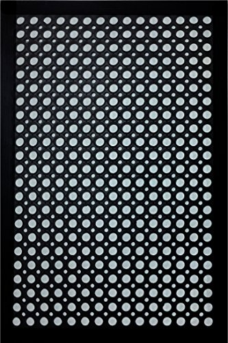 Shepherd Hardware 8102E Indoor/Outdoor Recycled, 24 x 36 x 1/2 Inches, Black Rubber Mat