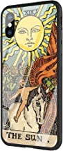 DAVIDLING Phone Case iPhone 7 Plus/8 Plus, Tempered Glass Back Cover and Soft Silicone Rubber Bumper Frame for Scratch-Resistant and Shock Absorption AM-256 Egypt Mysterious Tarot Divination