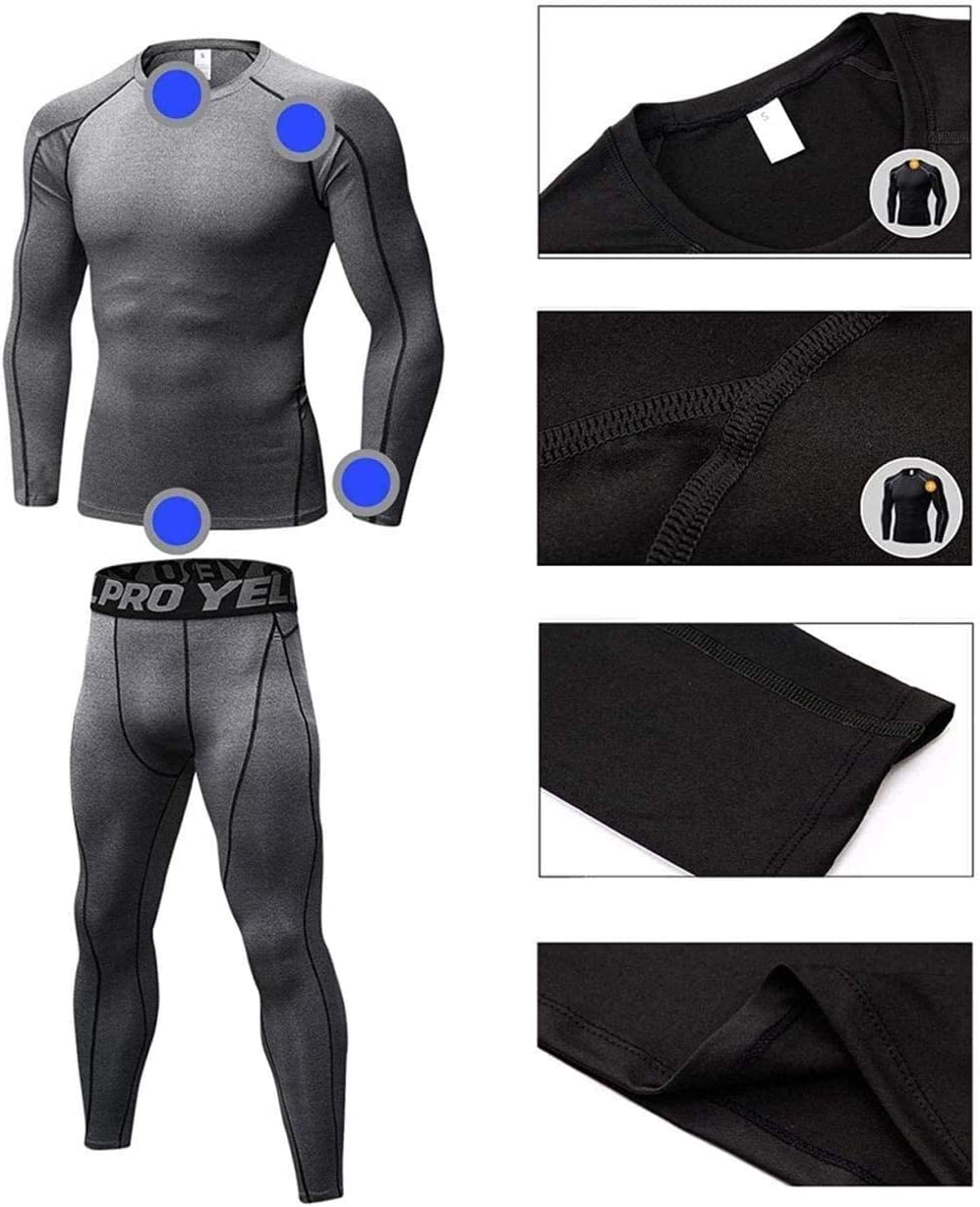 Fashion thermal underwear Thermal Underwear Men Set Long Sleeve Breathable Base Layers Lightweight And Comfortable For Outdoor Winter Activities Including Skiing Hiking ( Color : A , Size : X-Large )