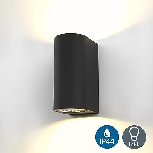 12 Watt LED in Acciaio inox Lampada da parete Up /& Down Corte FACCIATE ESTERNO FARETTO LAMPADA