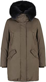Woolrich John Rich Bros. Military Fur-Trimmed Down Parka Women Down Coats