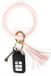 Wristlet Keychain Bracelet Bangle Keyring,Tassel Bracelet Key Ring Round Key Ring for Women Girls