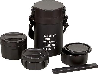 ベストコ ステンレスランチジャー ブラック 1.8L ティフィン ND-4222