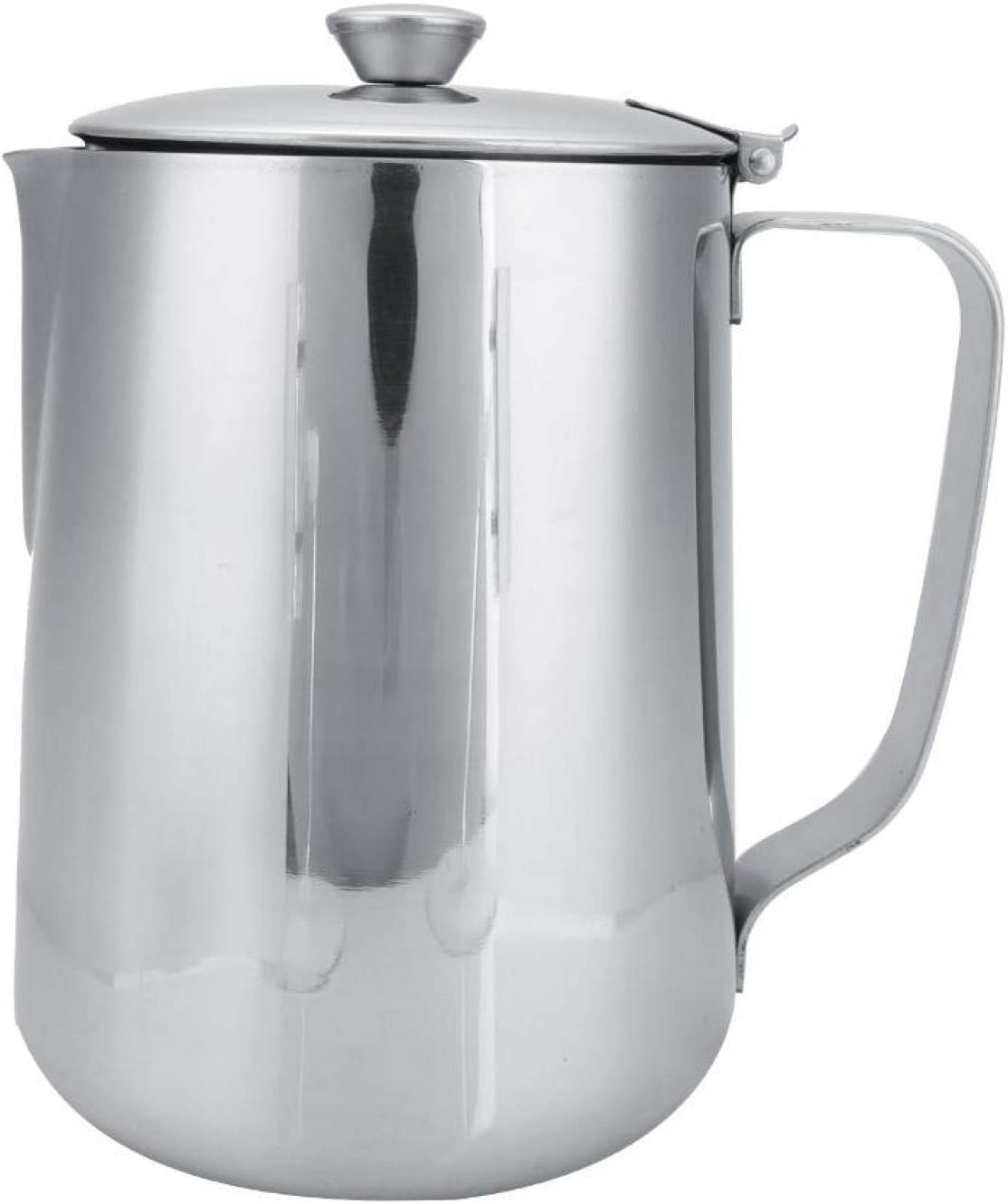 Stainless Steel Milk Frothing Pitcher Jug,Coffee Cup Mug with Li