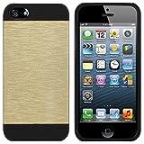 Colorfone Premium CoolSkin Jade/Funda/Carcasa/Cover por Apple iPhone 5/5S Oro+Negro