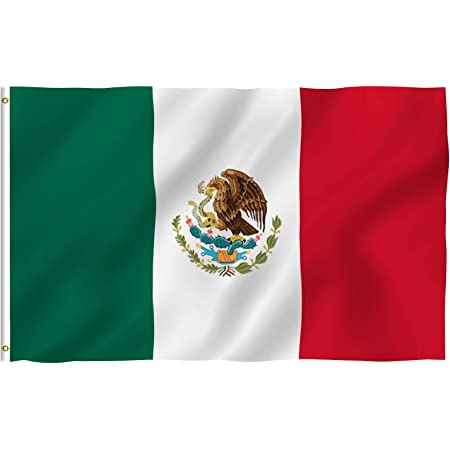 Anley Fly Breeze 3x5 Foot Mexico Flag Vivid Color And Fade Proof Canvas Header And Double Stitched Mexican Mx National Flags Polyester With Brass Grommets 3 X