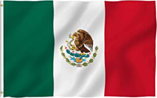 Best ANLEY Fly Breeze 3x5 Foot Mexico Flag - Vivid Color and Fade Proof - Canvas Header and Double Stitched - Mexican MX National Flags Polyester with Brass Grommets 3 X 5 Ft Review